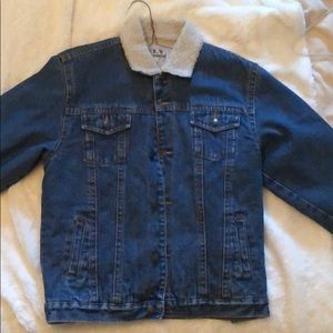 Other - Kids denim jacket with faux wool lining